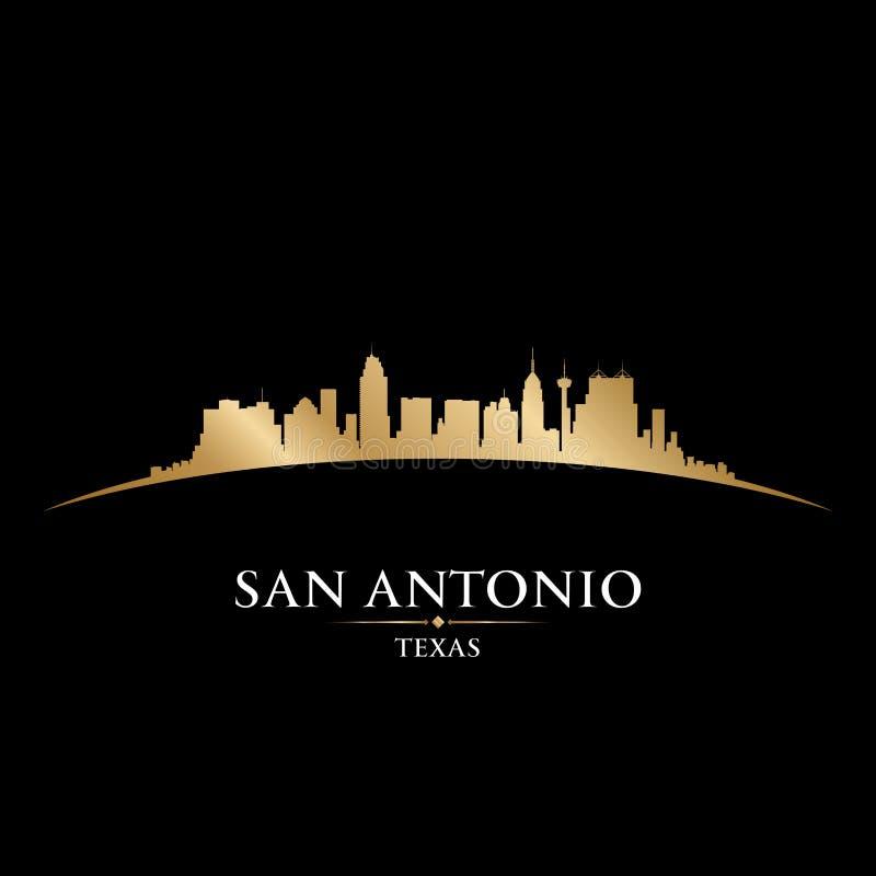 San Antonio Teksas miasta linii horyzontu sylwetki czerni tło ilustracja wektor