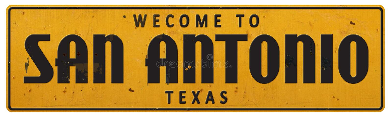 San Antonio Teksas znaka ulicznego Grunge Nieociosany rocznik Rerto zdjęcia stock