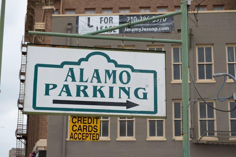 Alamo Parking San Antonio Texas royalty free stock photos