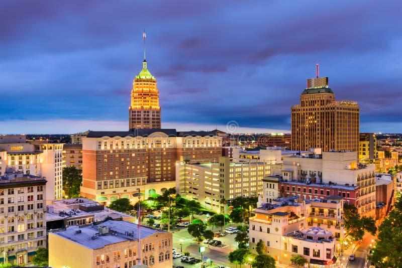 San Antonio Texas Cityscape arkivfoton