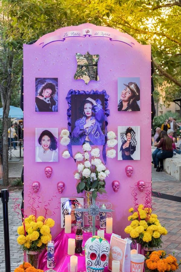 SAN ANTONIO TEXAS - NOVEMBER 2, 2018 - dag av den döda altaren/Di royaltyfri bild