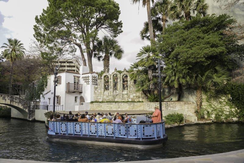 San Antonio, Texas, Stany Zjednoczone - Krajobrazy i architektura rzek zdjęcie stock