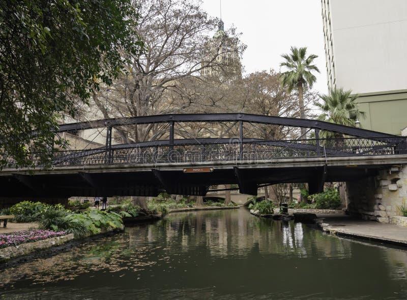 San Antonio, Texas, Stany Zjednoczone - Krajobrazy i architektura rzek zdjęcie royalty free