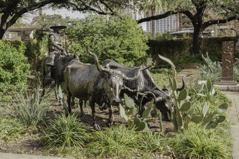San Antonio, Texas, Stany Zjednoczone - Krajobrazy i architektura rzek zdjęcia stock