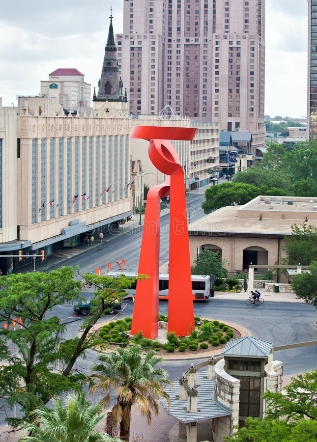 San Antonio - a tocha da amizade fotos de stock royalty free