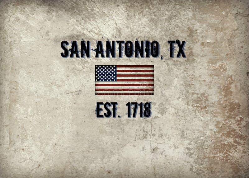 San Antonio, TX ilustracji