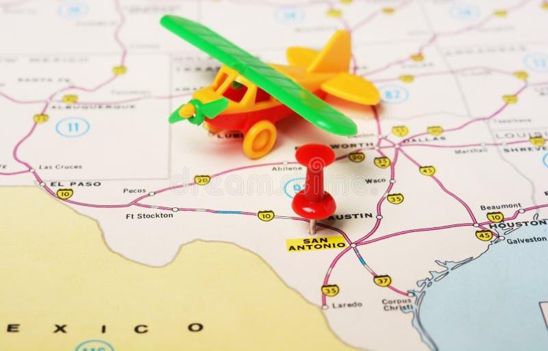 San Antonio Usa Map Airplane Stock Photo Image 58992562: San Antonio Usa Map At Codeve.org