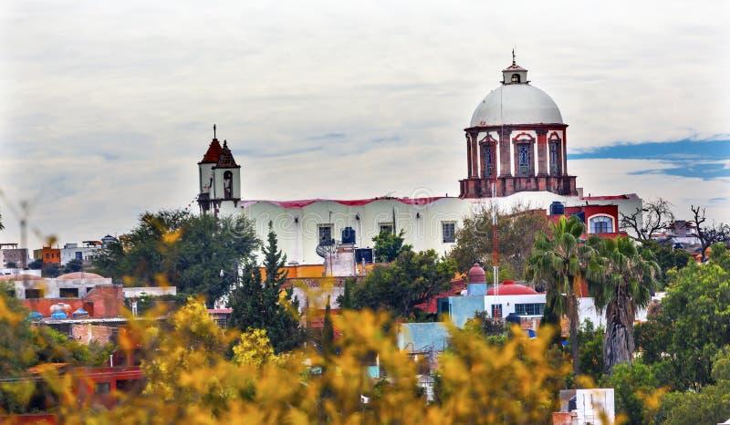 San Antonio White Church San Miguel de Allende Messico fotografia stock libera da diritti