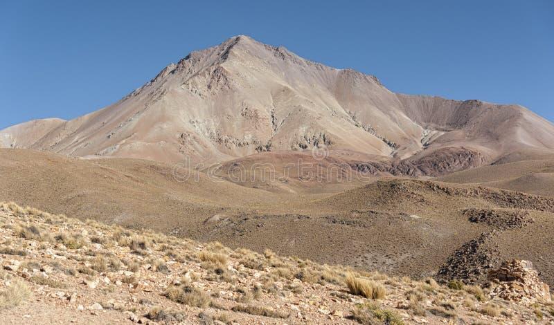 San Antonio wulkan w Boliwijskim altiplano - Boliwia fotografia stock
