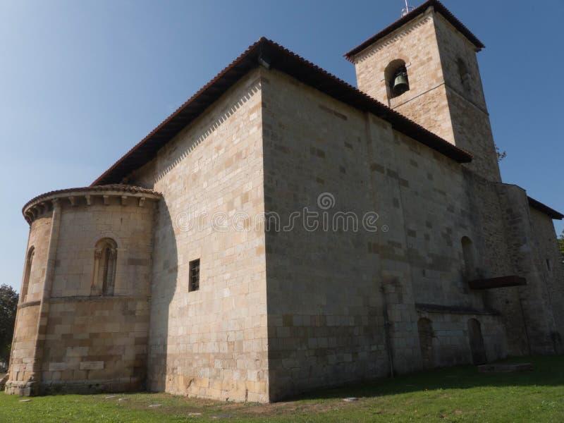 SAN ARMENTIA普鲁登西奥大教堂的看法  免版税库存照片