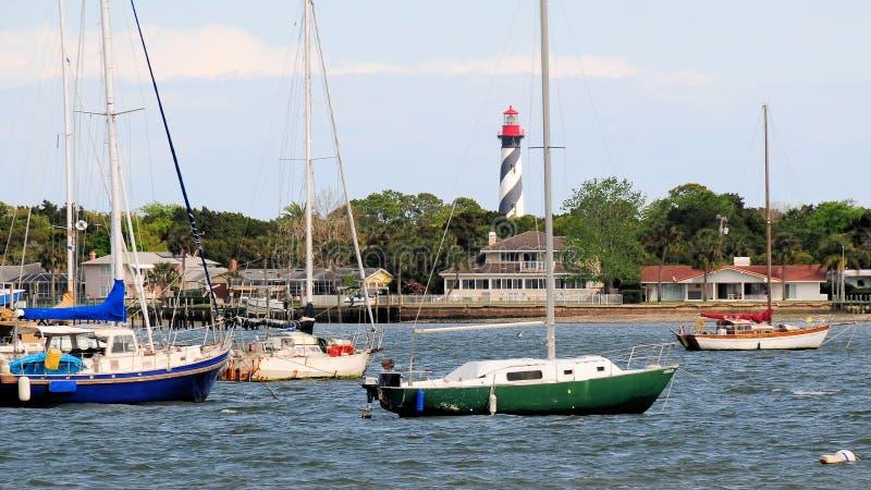 San Augustine Florida delle case delle barche fotografia stock libera da diritti