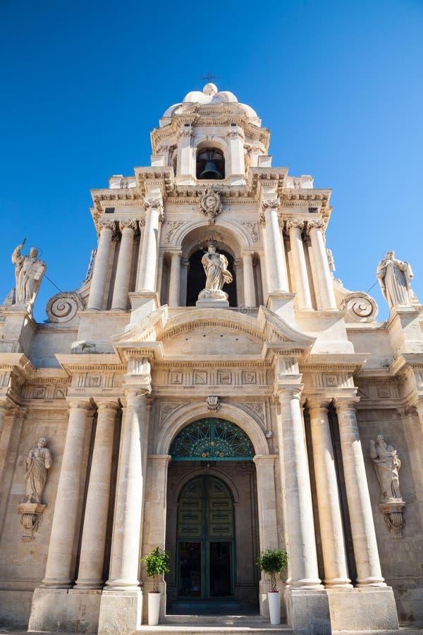San Bartolomeo, Scicli, Sicily, Włochy zdjęcia stock
