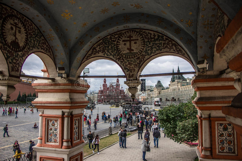 San Basil Cathedral, quadrato rosso immagine stock