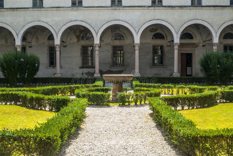 Download San Benedetto Po - Cloister Of The Abbey Stock Image - Image of mantua, photography: 28558671