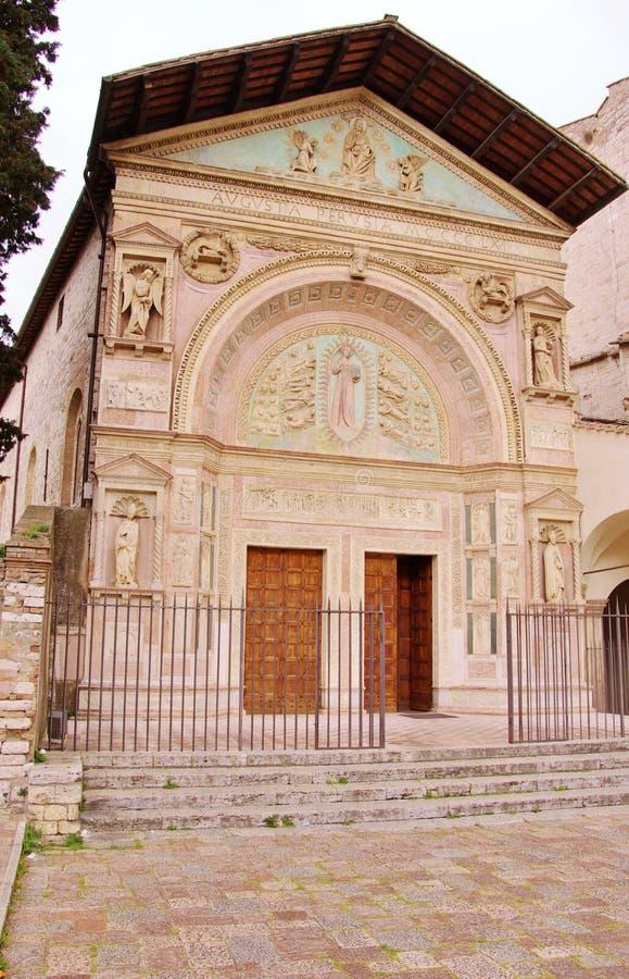 San Bernadino kyrka i Perugia royaltyfri fotografi