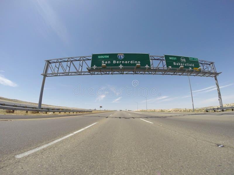 SAN Bernardino 15 αυτοκινητόδρομος στοκ φωτογραφία