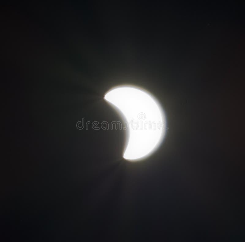 SAN BERNARDINO, CA Sierpień 21st 2017 10:44 PDT Sumaryczny zaćmienie zdjęcie royalty free