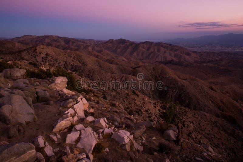San Bernardino Mountains. Scenic Little San Bernardino Mountains and Coachella Valley View. Salton Sea and Santa Rosa Mountains in a Distance. Southern stock photo