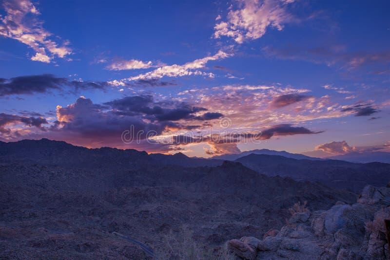 San Bernardino Sunset. San Bernardino Mountains Colorful Sunset. Coachella Valley Area. Souther California, United States stock photo