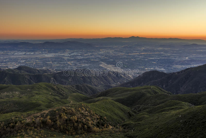 San Bernardino at sunset time royalty free stock photo