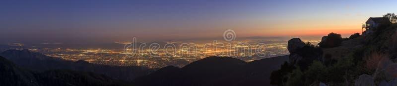 San Bernardino at sunset time. Sight seeing over San Bernardino at sunset time royalty free stock image