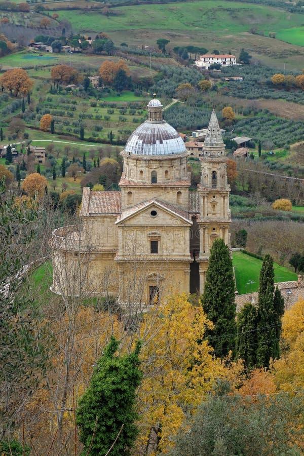 San Biagio Church Montepulciano Italy stockfoto