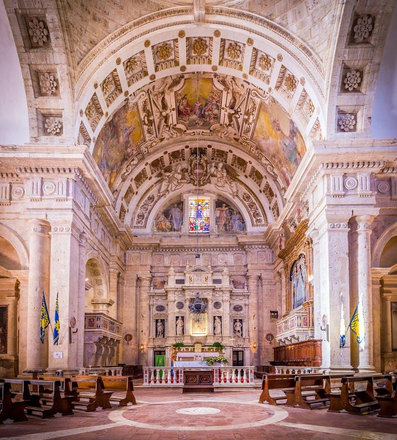 San Biagio church in Montepulciano, Italy. Interior of Madonna di San Biagio church in Montepulciano, Italy royalty free stock image