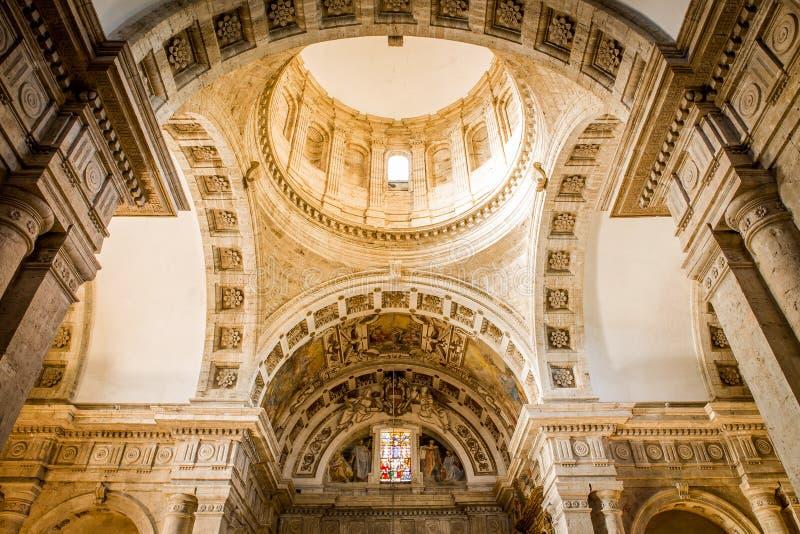 San Biagio church in Montepulciano, Italy. Interior of Madonna di San Biagio church in Montepulciano, Italy royalty free stock photography