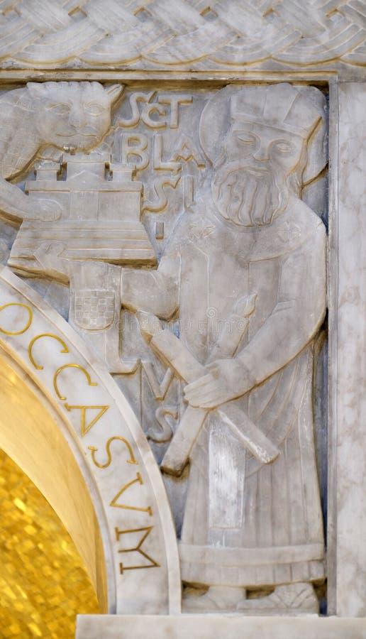 San Biagio, dettaglio del ciborio nella chiesa di San Biagio a Zagabria fotografia stock