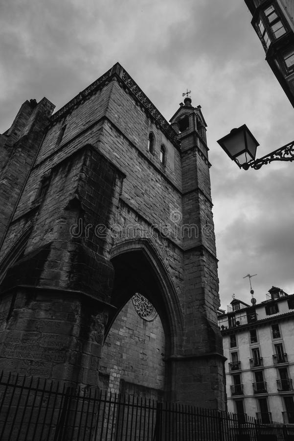 San Bizente eliza Church, San Sebastian, Spain royalty free stock image
