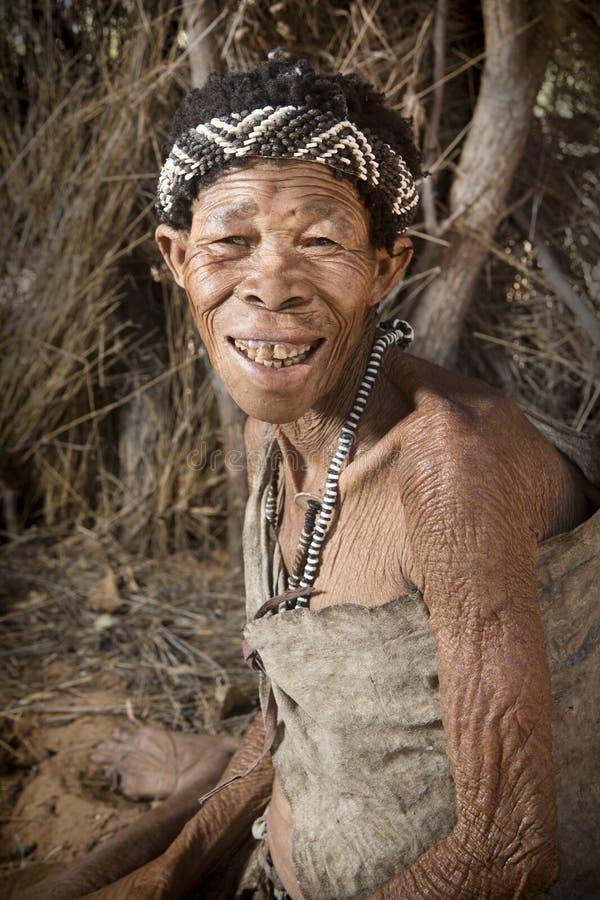 San bushwoman arkivfoton