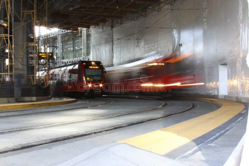 San céntrico Diego Trolley Station fotos de archivo libres de regalías