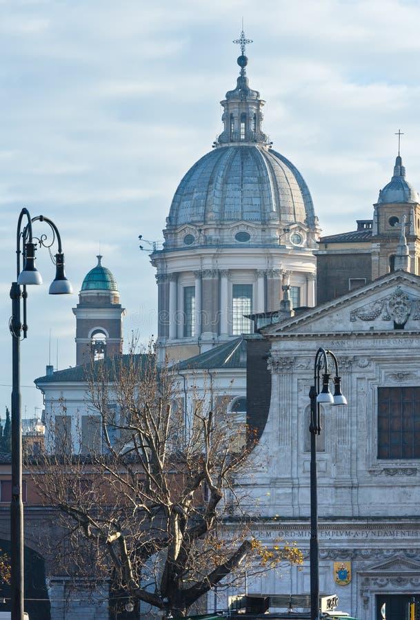 San Carlo al Corso basilika, Rome, Italien arkivbilder