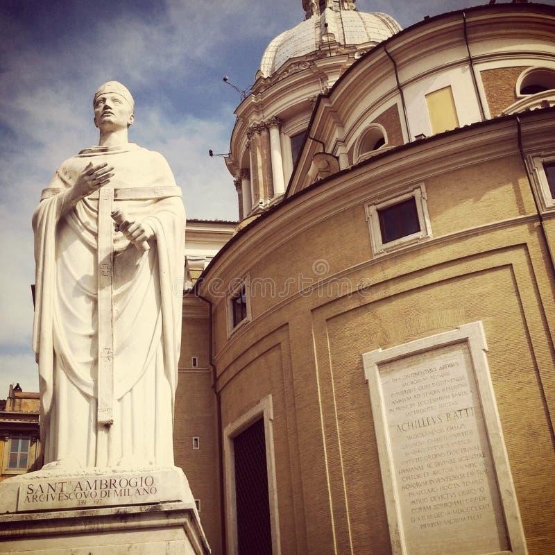 San Carlo al Corso kyrka royaltyfria foton
