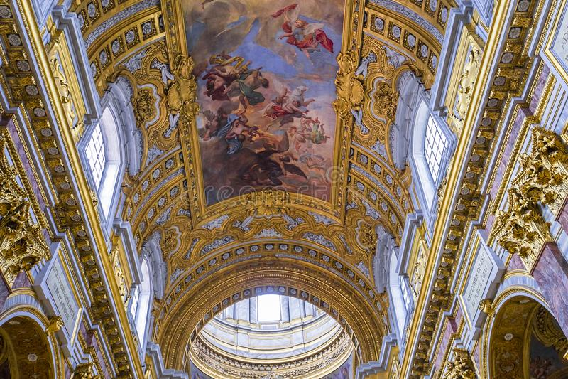 San Carlo al Corso kyrka, Rome, Italien arkivfoton