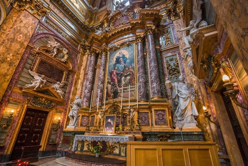 San Carlo al Corso kyrka, Rome, Italien fotografering för bildbyråer