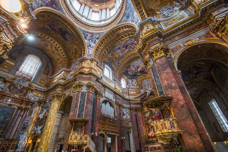 San Carlo al Corso kyrka, Rome, Italien royaltyfria bilder