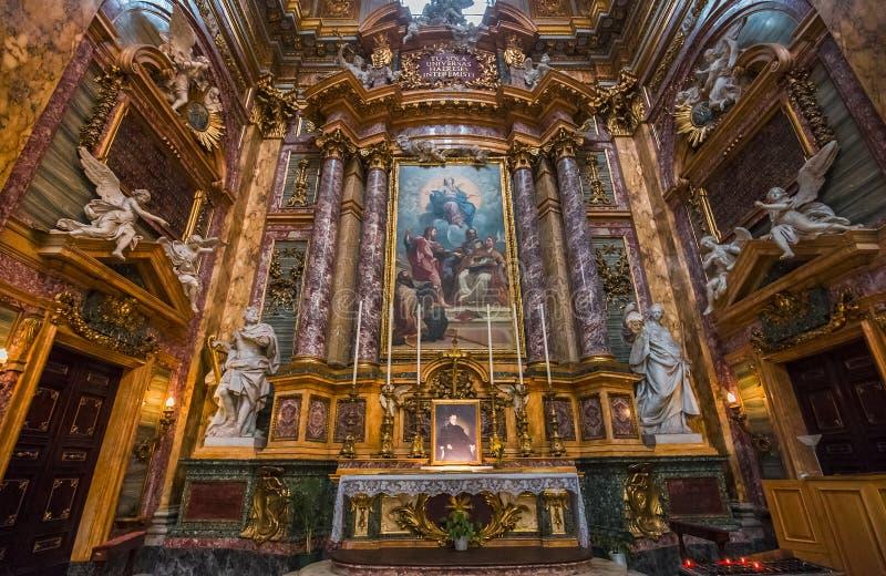 San Carlo al Corso kyrka, Rome, Italien royaltyfria foton