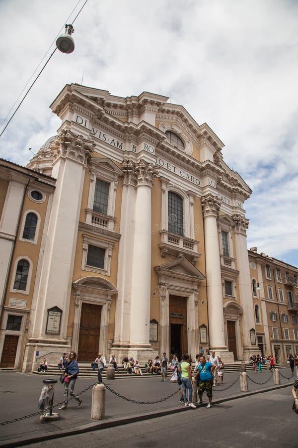 San Carlo al Corso, Rome arkivbild