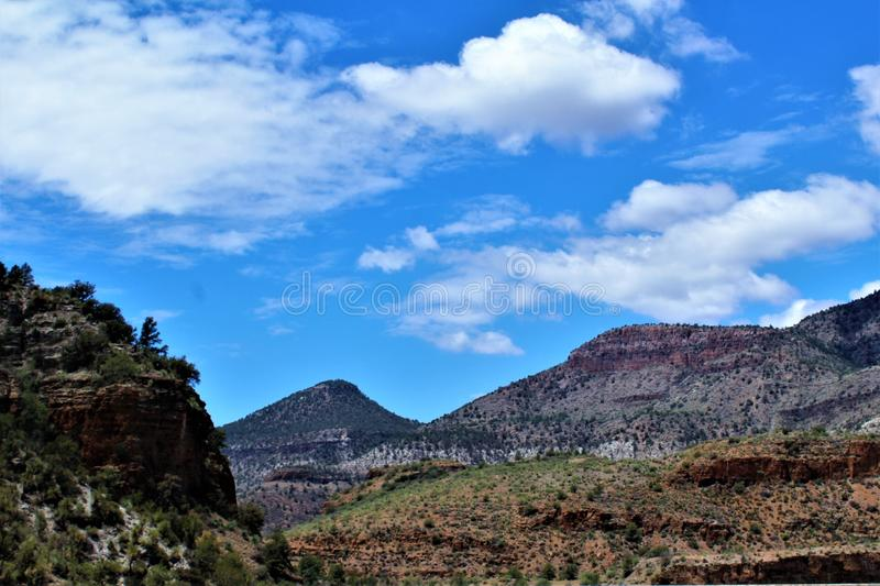 San Carlos Apache Indian Reservation, Gila County, Arizona, United States. Scenic landscape view of San Carlos Apache Indian Reservation, located in Gila County stock photography