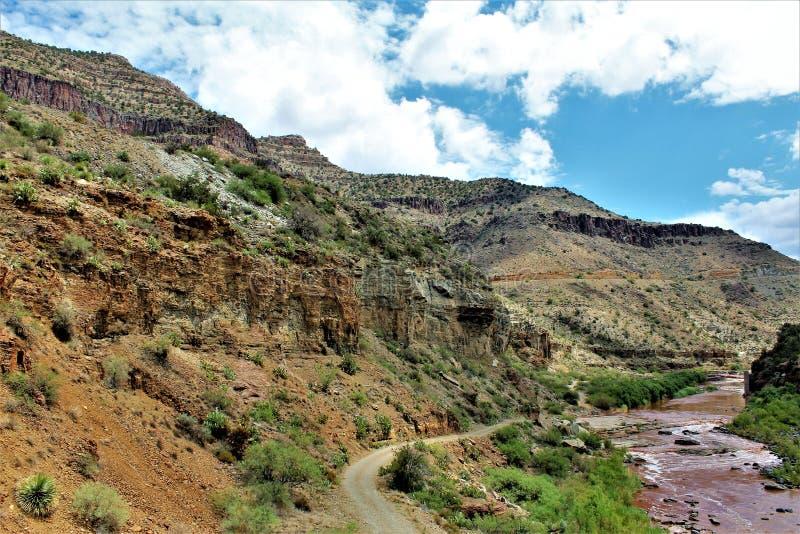 San Carlos Apache Indian Reservation, Gila County, o Arizona, Estados Unidos foto de stock