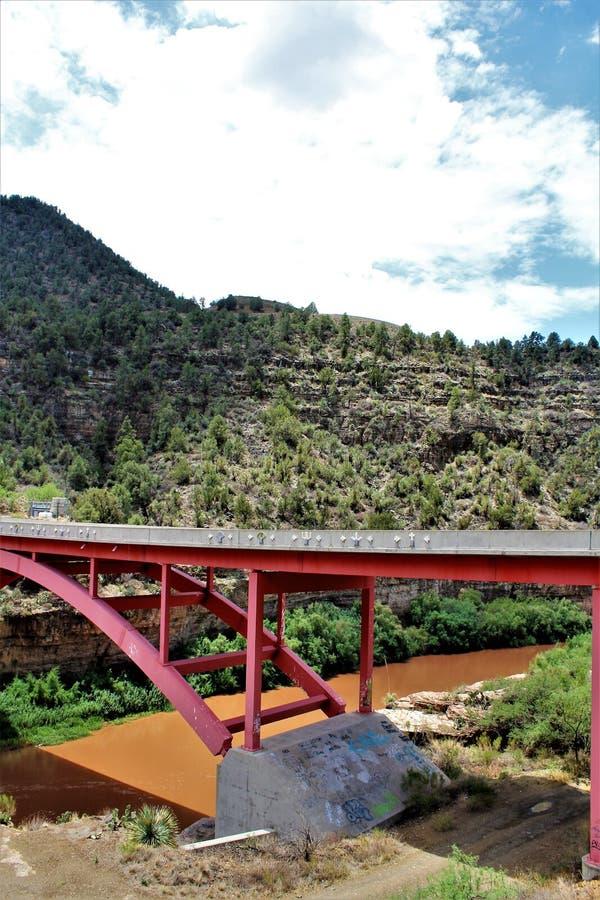 San Carlos Apache Indian Reservation, Gila County, o Arizona, Estados Unidos imagem de stock royalty free