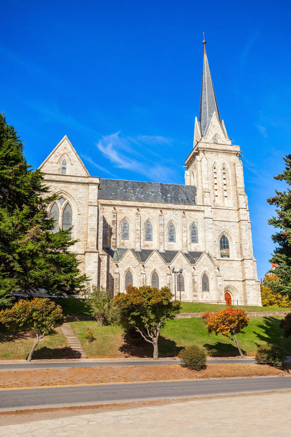 San Carlos Bariloche Cathedral royalty-vrije stock afbeelding