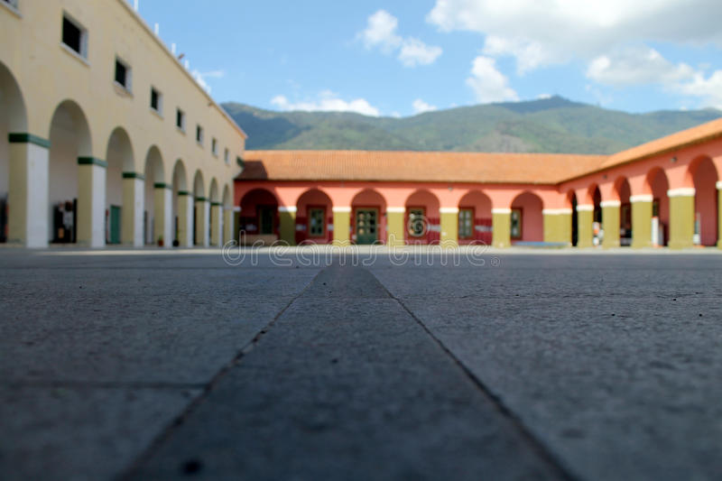 San Carlos Barracks. Caracas-Venezuela.  It was ordered to build by 1787 by the then governor of the Province of Venezuela Don Luis Unzagay Amenzaga to stock images