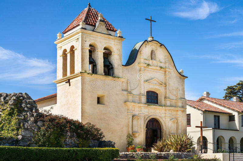 San Carlos Cathedral in Monterey, Californië royalty-vrije stock foto
