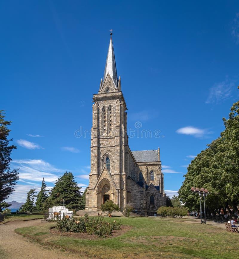 San Carlos de Bariloche Cathedral - Catedral Nuestra Senora del Nahuel Huapi - Bariloche, Patagonia, Argentina. San Carlos de Bariloche Cathedral - Catedral stock image