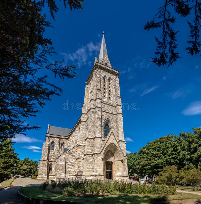 San Carlos de Bariloche Cathedral - Catedral Nuestra Senora del Nahuel Huapi - Bariloche, Patagonia, Argentina. San Carlos de Bariloche Cathedral - Catedral stock photography