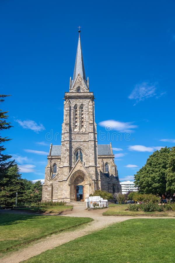San Carlos de Bariloche Cathedral - Catedral Nuestra Senora del Nahuel Huapi - Bariloche, Patagonia, Argentine image libre de droits