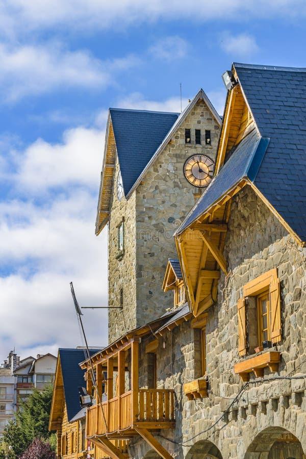 San Carlos de Bariloche Civic Center Building. Center civic landmark building at San Carlos de Bariloche, Argentina stock images