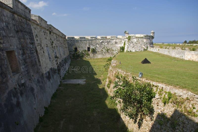 San Carlos De Los angeles Cabana Fort, Hawański, Kuba zdjęcie royalty free